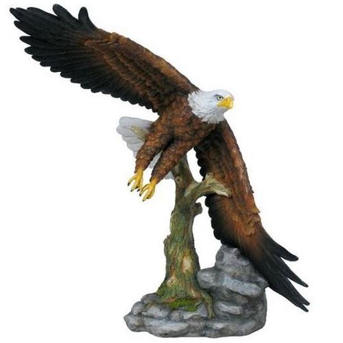Eagle sculpture flying eagle home decor for Eagle decorations home