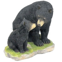 Black Bear with Cub Sculpture