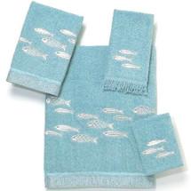 Fish Bath Towel Set Nantucket   AVA01943124