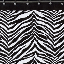 Zebra Print Shower Curtain and Hooks Set | Creative Bath | CBS1050-zeb83