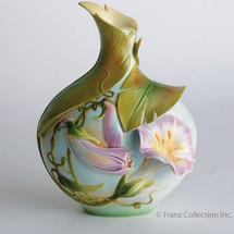 Morning Glory Vase | fz00533 | Franz Porcelain Collection -2