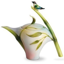 Bamboo Songbird Teapot | fz00573 | Franz Porcelain Collection