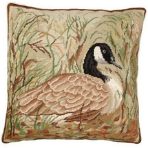 Canada Goose Needlepoint Down Pillow | Michaelian Home