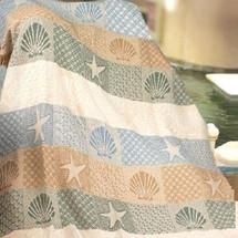 Seashells Throw Blanket | Manual Woodworkers | MWWASSSH