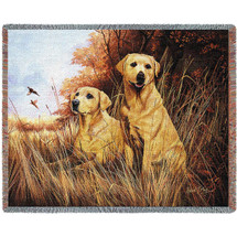Yellow Lab Woven Throw Blanket | Pure Country | pc1934T