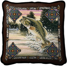 Fish Lodge Woven Throw Pillow | Pure Country