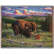 Buffalo Nation Woven Throw Blanket | Pure Country | pc4753T