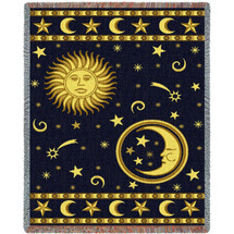 Moon and Stars Throw Blanket   Pure Country   PC5194T