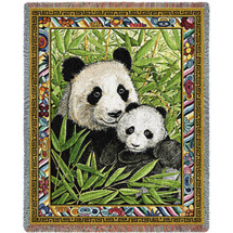 Panda Woven Throw Blanket | Pure Country | pc5588T