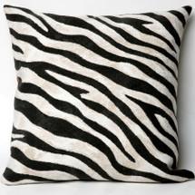 Zebra Print Indoor Outdoor Throw Pillow | Trans Ocean