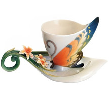 Tiger Swallowtail Cup and Saucer | FZ01672 | Franz Porcelain Collection