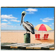 Pelican Wood Wall Art Panel 30x24 | Mill Wood | PEL7-30x24
