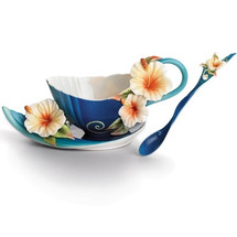 Island Hibiscus Cup, Saucer Spoon | FZ01779 | Franz Porcelain Collection