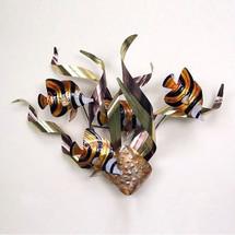Angelfish Mardi Gras Wall Sculpture   TI Design   tiCO106A