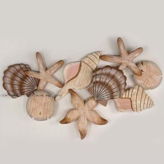 Ti Design Wall Art : Shell wood wall sculpture t i design