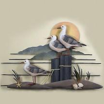 Seagull Trio Wood and Metal Wall Sculpture   TI Design   TICW233