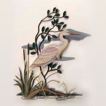 Heron Wall Sculpture Facing Right | TI Design