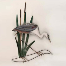 Heron Wall Sculpture Head Down | TI Design | tiCW508