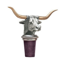 Longhorn Bottle Stopper | Heritage Pewter | HPIBS8539