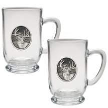 Whitetail Deer Coffee Mug Set of 2 | Heritage Pewter | HPICM209CL