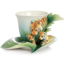 Tiger Cup Saucer | fz02040 | Franz Porcelain Collection