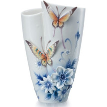 Forever Wedding Butterfly Vase | FZ02056 | Franz Porcelain Collection
