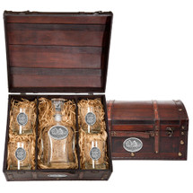 Buffalo Decanter Chest Set | Heritage Pewter | HPICPTC101
