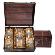 Elephant Decanter Chest Set | Heritage Pewter