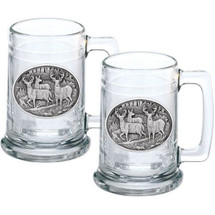 Whitetail Deer Stein Set of 2 | Heritage Pewter | HPIST114