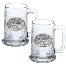 Rhino Stein Set of 2 | Heritage Pewter | HPIST136
