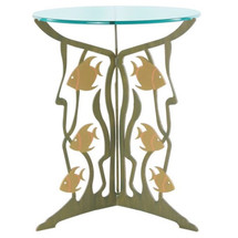 Fish Glass Top Table | Cricket Forge
