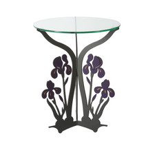 Iris Glass Top Table | Cricket Forge