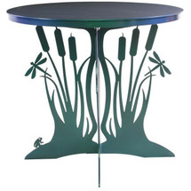 Cattail Dragonfly Patio Table | Cricket Forge