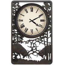 Battling Bull Deer Outdoor Clock | Painted Sky | PSCLK-BB