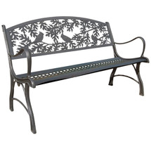 Cardinal Cast Iron Garden Bench | Painted Sky