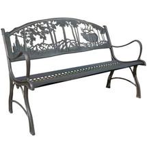 Elk Cast Iron Garden Bench | Painted Sky