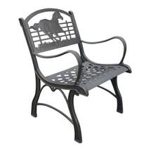 Running Horse Cast Iron Chair | Painted Sky | PSPC-IRH-200BR