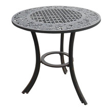 Grape Cluster Design Iron Patio Table | Painted Sky