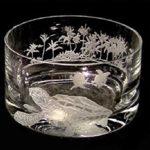 Sea Turtle Crystal Bowl | Evergreen Crystal | EC29