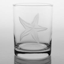 Starfish Double Old Fashioned Glass Set