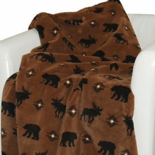 Bear Moose Wilderness Walk Throw Blanket Home Decor
