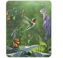 Hummingbird & Butterfly Ultra Plush Faux-Mink Blanket
