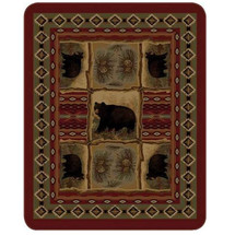 Bear Blanket Rustic Bear Patchwork | DUKDB5351-2
