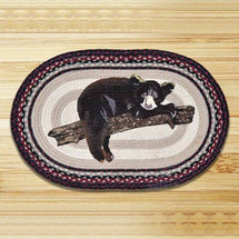 Baby Bear Oval Patch Braided Rug | Capitol Earth Rugs | CEROP-344