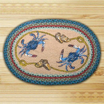 Blue Crab Oval Braided Rug | Capitol Earth Rugs | CEROP-359