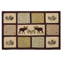 Moose Quilt Patch Braided Rug | Capitol Earth Rugs | CERQP-019