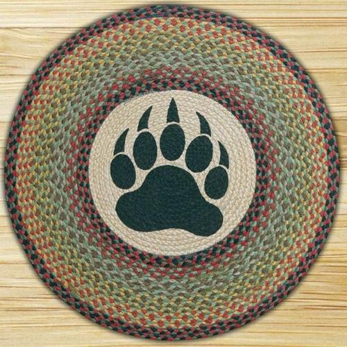 Bear Paw Round Braided Rug Area Rug