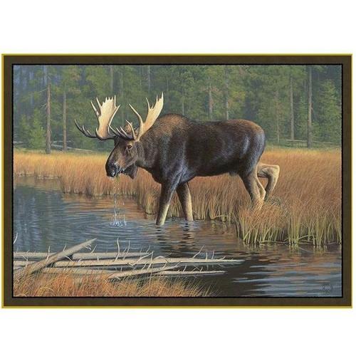 Caribu Dog Rug: Moose Area Rug