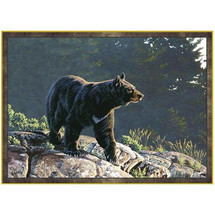 Black Bear Area Rug Evening Calm | Custom Printed Rugs | CPR45