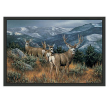 Mule Deer Area Rug The Last Glance | Custom Printed Rugs | CPRmuledeerrug